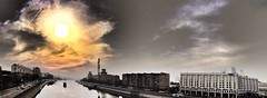 #Moscow #River #Cityscape #Panorama #Sunset ))) (NO PHOTOGRAPHER) Tags: sunlight sunset light bw blackandwhite contrast diagonal white black architecture abstract composition indoor hochhaus gebäude cityscape skyline detail monochrome building outdoor iphoneography iphonephotography exterier urban blue skycraper iphone 6s panorama panoramatic москва россия архитектура строительство река мост