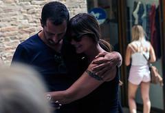 """ The embrace "" (pigianca) Tags: italy man woman couple embrace streetphoto urbanphoto leicam240 summilux50mmf14 portrait"