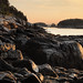 Maine (Dorian Susan) Tags: georgetown maine newengland summer landscape view harbor warm sunrise light rocks rockycoast shore morning early sky pink orange trees island fiveislands water ocean calm tranquil empty