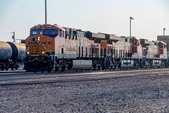 BNSF 8028 - Winslow, AZ Yard (KN6KS) Tags: winslow arizona unitedstates train trainyard bnsf8028 bnsf8195 bnsf states us bnsf7508 railroad locomotive laposada