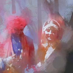 Summer Wedding / Noce d'été (H - - J) Tags: wedding bride groom sikh red turban outdoor kirpan jewellery people tree hss