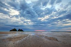 Storm Clouds Breaking at Holywell Bay (Andrew Hocking Photography) Tags: holywellbay gullrocks beach sand cornwall storm stormy sky sunset light evening coast coastal explore inexplore