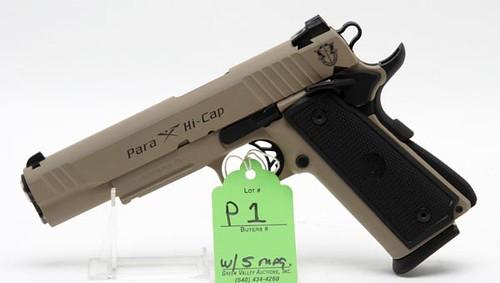 Para-Hi Cap .45 Caliber Semi-Automatic Pistol w/ 5 Magazines ($644.00)