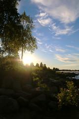 (Elisabeth Aurora V.) Tags: kukkola sunset sweden canon river