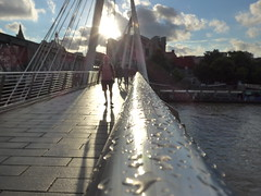 Bridge (moley75) Tags: london centrallondon hungerfordbridge goldenjubileebridges