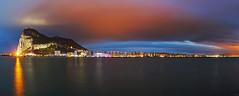 Gibraltar - Panorama Skyline (FH | Photography) Tags: gibraltar england uk spanien spain europa stadt city skyline night panorama blauestunde bucht bay strassevongibraltar upperrock hochhäuser skyscraper architektur tourismus capital sehenswürdigkeit fels rock berg naturschutzgebiet europe