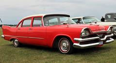 1957 Dodge Kingsway (crusaderstgeorge) Tags: crusaderstgeorge classiccars cars 1957dodgekingsway redcars americancars americanclassiccars americancarsinsweden västeråssummermeet 2017 chrome sweden sverige västerås 1957 dodge kingsway