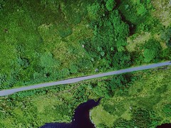 The road to Inversnaid (ikeofspain) Tags: drone inversnaid green water locharklet