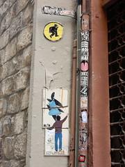 Tile dance (aestheticsofcrisis) Tags: street art urban interventions streetart urbanart guerillaart graffiti postgraffiti barcelona spain raval europe