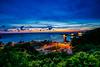 West Bay sunset (linchingyao) Tags: 西子灣 英國打狗領事館 夕陽 red sunrise sunset sun green orang taiwan nature long landscape sea seascap
