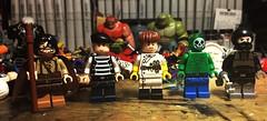 Bat-guys (Lord Allo) Tags: lego dc batman sewer king film freak professor milo doctor phosphorus lockup