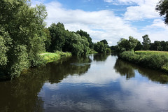 Ems in Telgte (Münsterland) (kalakeli) Tags: telgte ems rivers flüsse wasser water reflektionen reflexions july juli 2017 münsterland
