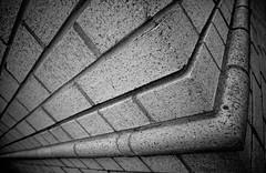 Hard Angles (Darren LoPrinzi) Tags: 5d canon5d canon city miii urbanexploration architecture abstract architecturalabstract bw blackandwhite blackwhite mono monochrome geometry geometric angles lines angle diagonal brick texture building nj newjersey pipe grid