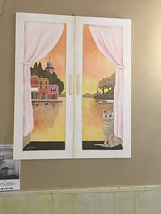 Painting in cafe (kim.barrett723) Tags: cafe santa margherita ligure sml italy