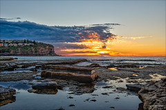 Reducing one thing can increase another (JustAddVignette) Tags: algae australia bilgolabeach clouds dawn early fiery flamingsky hazardreductioncolours landscapes lowtide newsouthwales northernbeaches ocean reflections rocks seascape seawater sky sunrise sydney water