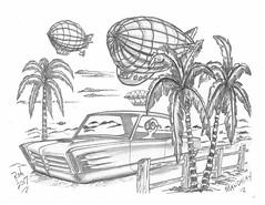 Mandalay (rod1691) Tags: bw scifi grey concept custom car retro space hotrod drawing pencil h2 hb original story fantasy funny tale automotive art illistration greyscale moonpies sketch