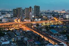 In the Evening (VictorLK) Tags: bankok cityscape landscape lighttrails longexposure nightphotography nikkon sigma thailand urban