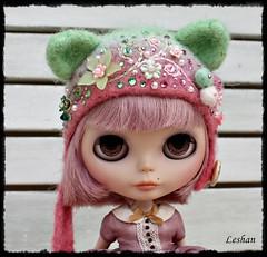 Custom Order for Zuzka (Leshan1) Tags: leshan leshancrochet leshanhelmet leshanhat helmet hat crochet lilac blythe blythecrochet blythehelmet blythehat order customorder felted handdyed