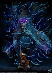 Grimdor and the Demon (MightyZandor) Tags: illustration cartoon comic webcomic warrior demon dungeon adventure rabbit sword sorcery fantasy
