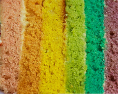 Have a piece of rainbow cake (Chandana Witharanage) Tags: srilanka southasia macromondays macrophotography texture macrotexture canoneos7d chandanawitharanagephotography stackwith10shots memberschoicetexture naturallight colour colours rainbowcolours