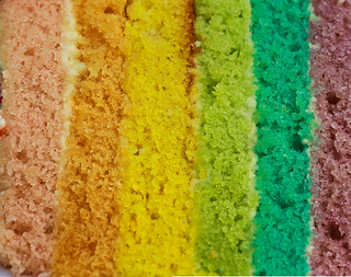 Have a piece of rainbow cake