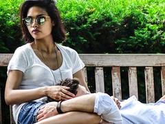 Lovers (Audrey.Hell) Tags: sereposer chill couple femme woman lunettedesoleil sunclasses jardin summer garden paris amoureux lovers