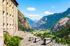 A view of Fort de Bard (joe petruz) Tags: mountain bard italy fort piemonte turin valle aosta forest old building build landscape light sky cloud blue green canon eos 650d river panorama travel walk walking street