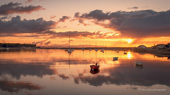Sunset... (moraypix) Tags: sunset findhornsunset boats flatcalm morayfirth nikond750 moraypixphotography jimmacbeath romantic peaceful greatlight reflection