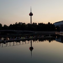 Mirroring (Magic M.) Tags: colonius televisiontower cologne köln sunset sonnenuntergang teich pond spiegelung fernsehturm