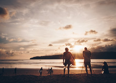 Sunset Surfer (Taufik C) Tags: sunset surfing surfer pacitan indonesia wave pancer sunporn skyporn orange lightray bokeh sunrise board
