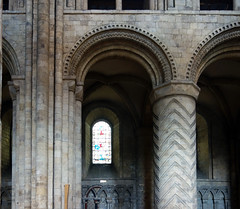 Durham Cathedral, pier and column