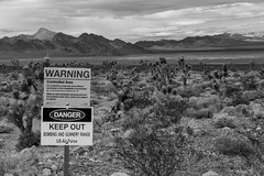 DNWR sign (joeqc) Tags: nevada nv dnwr desert dry lake lincolncounty lincoln county black bw blancoynegro blackandwhite white monochrome mono greytones