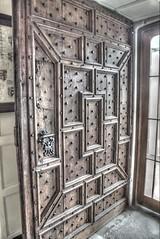 The Door of Burton Agnes Hall (The Frantic Photographer) Tags: england hdr hha interior domestic studded