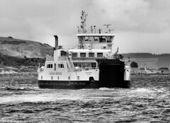 Scotland West Highlands Argyll car ferry Loch Shira at the island of Cumbrae 16 July 2017 by Anne MacKay (Anne MacKay images of interest & wonder) Tags: scotland west highlands argyll caledonian macbrayne car ferry loch shira island cumbrae sea coast monochrome blackandwhite landscape xs1 16 july 2017 picture by anne mackay