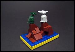 Dragon Island (Karf Oohlu) Tags: lego moc vignette microscale dragon island