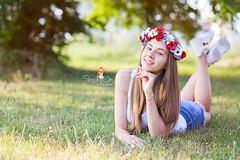 IMG_6931 (Galika_) Tags: teen girl long hair smile sunset sundown summer wreath flower portret memory natural naturallight white green canon 6d 85mm 8518 bulgaria