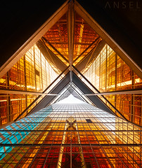 The New Gods (draken413o) Tags: hong kong architecture cityscapes skyline skyscrapers urban places scenes asia travel destinations royal pacific hotel details glass gold geometrick concept 17mm tse shapes wow canon 5dmk4 x kowloon panorama
