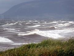 High tide at Earnse Bay (billnbenj) Tags: barrow cumbria walneyisland earnsebay hightide 95metretide waves surf spray