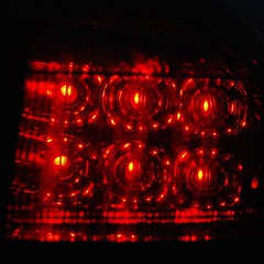 RED LED (remcclean) Tags: red led right rear sidelight lamp light toyota auris touring sport 2013 hybrid hsd bright colour outdoor