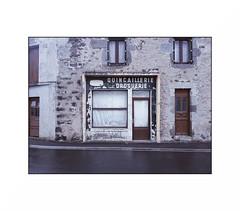 """(""""Que la bête meure"""") Tags: droguerie quincaillerie oldshop fff closed rain"""