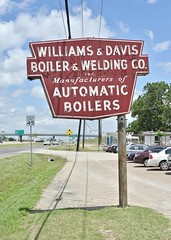 Williams & Davis Boiler & Welding Co. - Hutchins,Texas (Rob Sneed) Tags: usa texas hutchins neon vintage boilers manufacturing industrial smalltown suburb dallas interstate45 business automaticboilers advertising welding williamsdavisboilerweldingco
