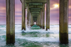 Scripps Pier (PhotoJacko - Jackie Novak) Tags: scrippspier lajolla sandiego sunset ocean ndfilter california canon6d pier waves water lightroom