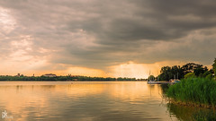 Old Lake (Peter Krasznai Photography) Tags: oldlake tata hungary sunset stormy sony a7ii alpha beautiful cloudy colors emount exploration ishootmirrorless kraszipeti landscape water region orange sonyalpha canonefs1018