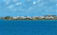 ISLANDS OF PINK SANDS AND BLUE (Visual Images1) Tags: sky water blue bermuda white roofs