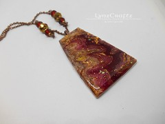 Polymer Clay Pendant Autumn Winds II by LynzCraftz (LynzCraftz) Tags: polymerclay pendant jewelry necklace oneofakind handmade art resin