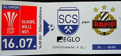 SC Schwaz vs Rapid - Ticket (che1899) Tags: schwaz cup öfbcup rapid rapidwien tirol