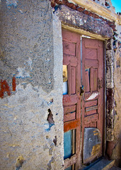 Rough time in Oia (kimbar/Thanks for 3.5 million views!) Tags: deterioration door greece house oia santorini explore