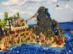 19554427_1507072352688829_5643606037176710520_n (PUISSANCE BRICK) Tags: lego minifigs minifig afol bricks collectable island paradise hotdog shark maïs popcorn sausage saucisse banana banane puissancebrick sea ocean