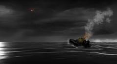 Mayday! Photoshop composite (gizmo-the-bandit) Tags: ohotoshop composite ship shipwreck mayday sinking emergency flare sea fantasy maritime marine cumbria uk