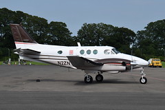 N2ZN Beech B90 King Air (eigjb) Tags: n2zn beech king air turboprop beechcraft beech90 b90 be9l aircraft airplane plane spotting aviation dublin weston airport general eiwt ireland july 2017 twin prop